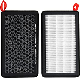 Carwiner Compatible with Tesla Model 3 Model Y Air Filter HEPA with Activated Carbon Replacement Cabin Air Filter Accessor...