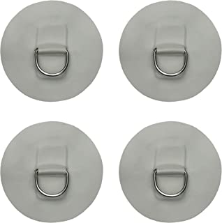YYST 4 X Stainless Steel D-Ring Pad/Patch for PVC Inflatable Boat Raft Dinghy Kayak - No Glue - Instruction Included- Ligh...