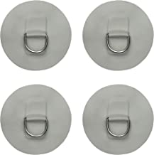 YYST 4 X Stainless Steel D-Ring Pad/Patch for PVC Inflatable Boat Raft Dinghy Kayak - No Glue - Instruction Included- Light Grey