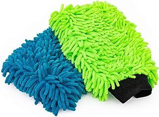 Haobase 2Pcs Microfiber Premium Scratch-Free Wash Mitt Random Color