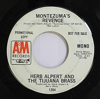 Herb Albert and the Tijuana Brass 45 RPM Montezuma's Revenge / Darlin'