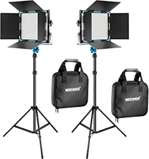Neewer 2 Packs 660 LED Video Light and Stand Photography Lig