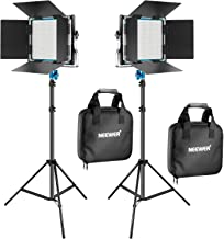 Neewer 2 Packs 660 LED Video Light and Stand Photography Lighting Kit: Dimmable LED Panel..