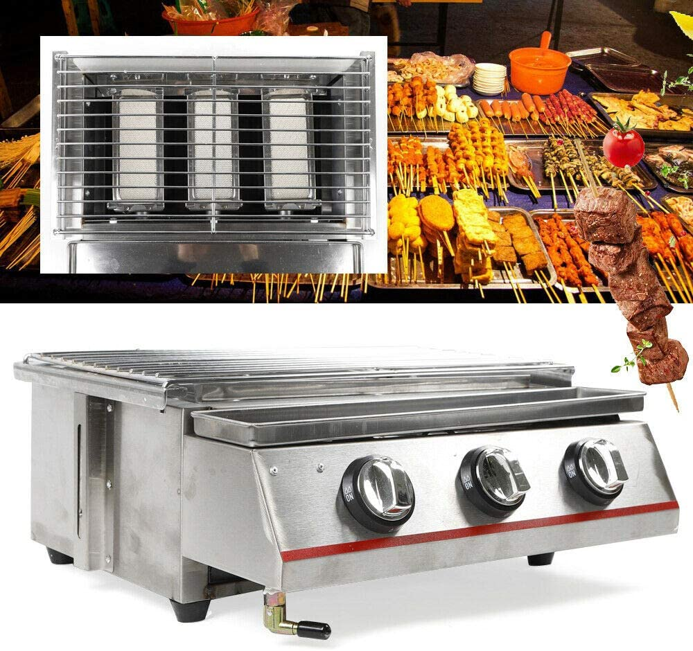 Ranking TOP15 LOYALHEARTDY19 Small 3 Head Grill Stainle Gas Special sale item Propane
