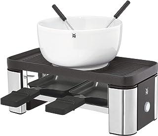 WMF KITCHENminis Appareil A Raclette Pour 2 Personnes Duo Multifonction Plaque Grill/Plancha Réversible Accessoire Pot Cér...