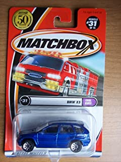 BMW X5 Matchbox Cool Rides Blue BMW X5 1:64 Scale Collectible Die Cast Metal Toy Car Model #31 of 75