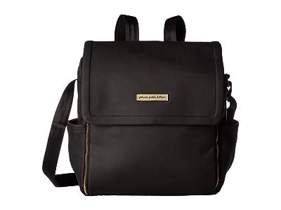 petunia pickle bottom Matte Leatherette Boxy Backpack (Black) Diaper Bags