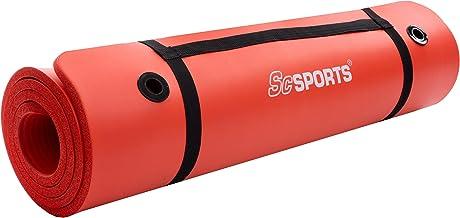 ScSPORTS gymnastiek-/yogamat, met schouderriem, extra groot en dik, 185 cm x 80 cm x 1,5 cm
