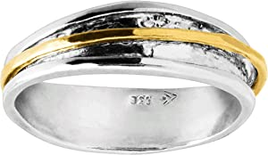 Silpada 'Float on' Spinner Ring in Sterling Silver & 14K Gold Plate