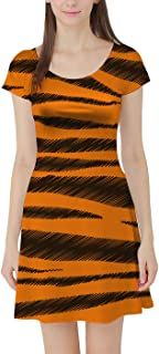 Rainbow Rules Tigger Stripes Winnie The Pooh Inspired Short Sleeve Dress