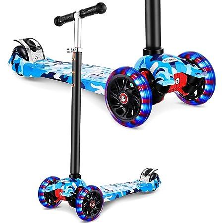 WeSkate Patinete Triciclo para Niños de 3 a 12 Años con ...