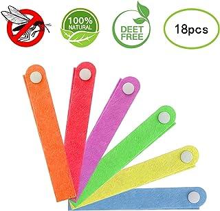 INTVN Pulseras Repelente de Mosquitos, Pulseras Antimosquitos, Pulseras Anti-Mosquitos de 18pcs para Adultos y Niños, Materias Naturales