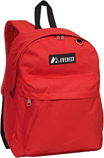 Everest Luggage Classic Backpack, Red, Large