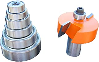 CMT 835.501.11 Variable Depth From 1/8-Inch to 1/2-Inch, 1/2-Inch Cutting Height, 1/2-Inch Shank Rabbeting Router Bit Set