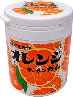 丸川製菓 オレンジマーブルガムボトル 130g