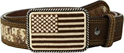 Sport Patriot with USA Flag Buckle Belt
