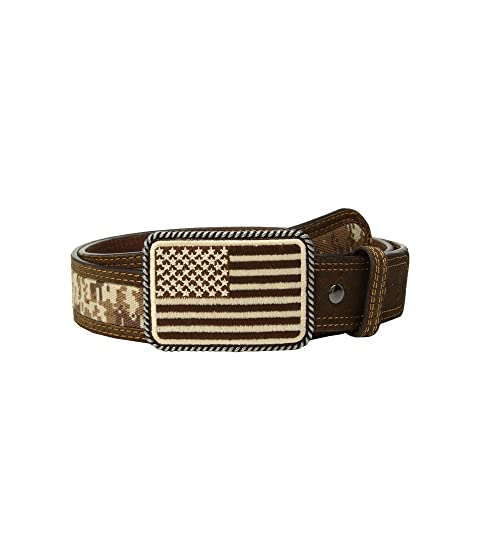 395fe934142 Ariat Sport Patriot with USA Flag Buckle Belt at Zappos.com