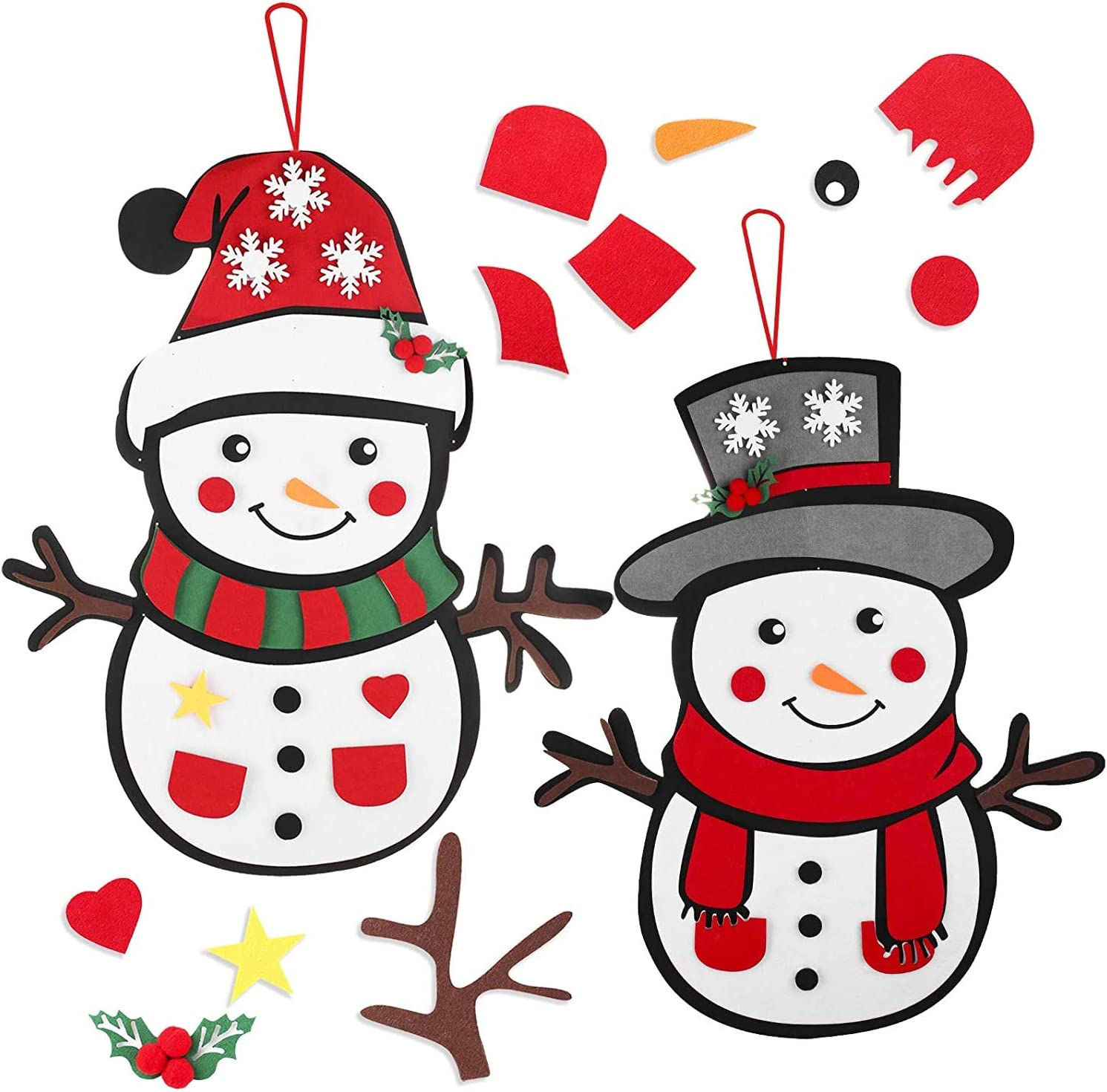 2 Pack DIY Felt Snowman Games for Craft Christmas Kit Credence Special price for a limited time Kids Set