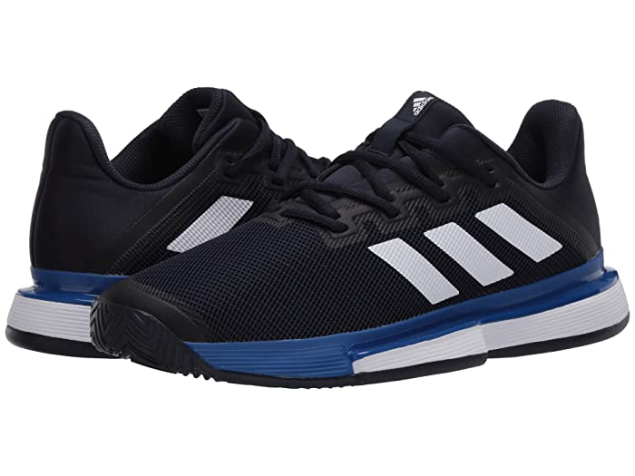 adidas  SoleMatch Bounce (Legend Ink/Footwear White/Team Royal Blue) Mens Tennis Shoes