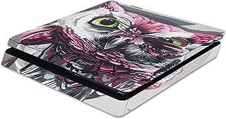 MightySkins - Skin para Sony PS4 Slim Console, diseño de tigre blanco, protector y duradero, vinilo único, fácil de aplica...