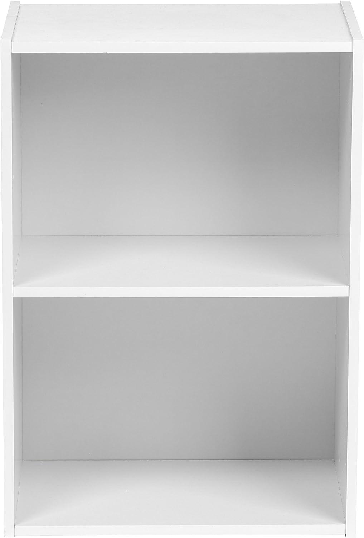 White 596166 IRIS USA 2-Tier Wood Storage Shelf