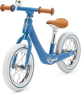 Kinderkraft Bicicleta sin Pedales RAPID, Sólida, Segura, Ajustable, Retro, Azul