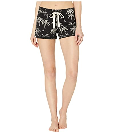 P.J. Salvage Palm Tree Shorts (Black) Women