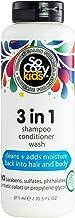 SoCozy 3 in 1 Shampoo + Conditioner + Body Wash Mango-go, 10.5 Fluid Ounce