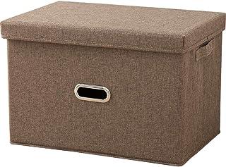Boîtes de rangement pliables avec couvercle amovible, poubelles de rangement en tissu avec poignées, parfait for la maiso...
