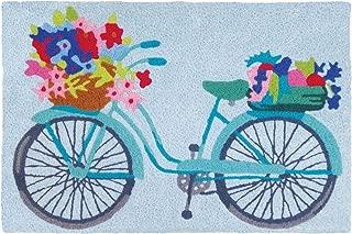 Jellybean Flower Basket On Bicycle Garden Indoor/Outdoor Machine Washable 21