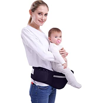 Gabesy Violet Portabeb/é Erogon/ómico Cintura Ajustable Asiento para Bebes con Tirantes de Cuello Multiples Posiciones C/ómoda Hebilla Resisternte Beb/é de 4-36 meses