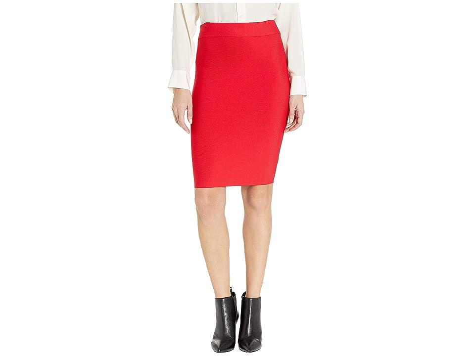 BCBGMAXAZRIA Nathalia Sweater Pencil Skirt (Red Berry) Women