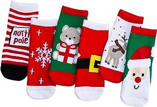 vanberfia Unisex Baby 6pairs Baby Kids Cartoon Christmas Holiday Toddler Children's Socks