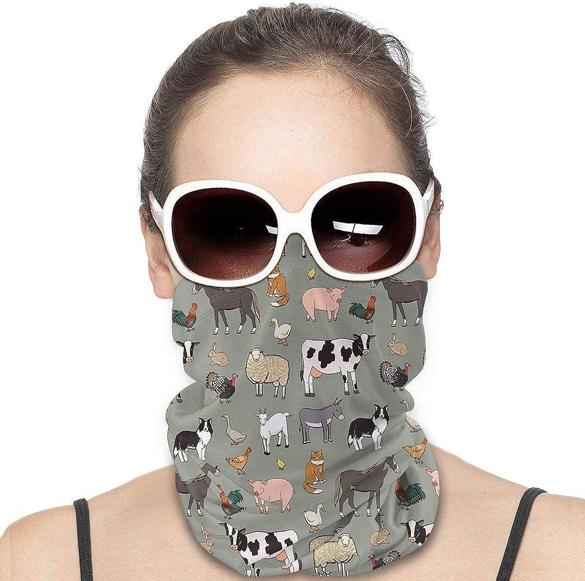 KiuLoam Women Bandanas Face Mask, Animals Neck Gaiter Mask Headband for Men Face Scarf Dust, Outdoors, Sports