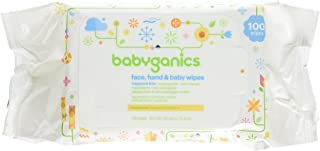 Babyganics Face, Hand & Baby Wipes, Fragrance Free - 100 Count (Pack of 1)