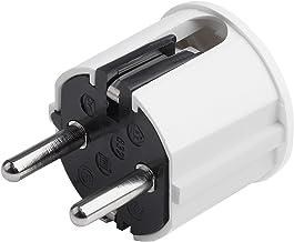 3er PACK Superslim Schutzkontakt-Winkelstecker schwarz mit Klappgriff und Knickschutz extraflach 8mm 250V 16A f/ür Kabel bis 3x1,5 mm/²