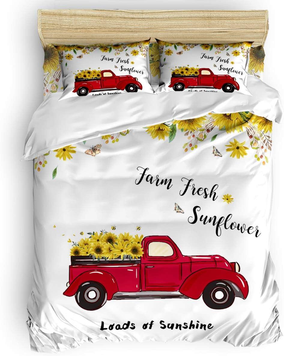 SODIKA Bedding Duvet Popular standard Cover Brand new Set Durable Breathable Comfy Soft Duv
