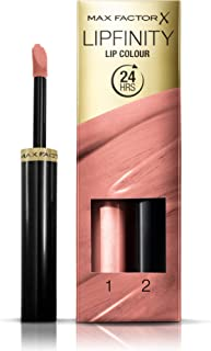 Max Factor Lipfinity Lip Colour Lipstick, 2-step Long Lasting, 160 Iced, 2.3 ml + 1.9 g