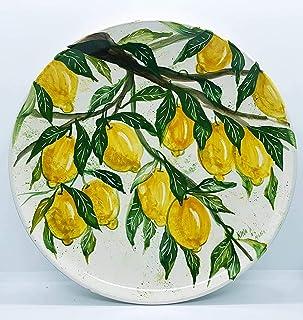 Piatto da muro Linea Limoni Ceramica Handmade Le Ceramiche del Castello Nina Palomba 100% Made in Italy