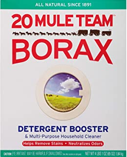 20 Mule Team Borax 00201 Lot of 2 Laundry Booster Household Cleaner 65 Oz. Boxes