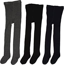Jefferies Socks - Seamless Organic Tight Three Pack (Toddler/Little Kid/Big Kid)