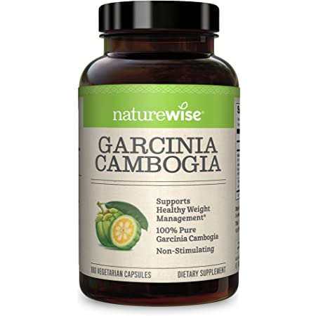 NatureWise Pure Garcinia Cambogia (2 Month Supply) 100% Natural HCA Extract Concentrated to 60% to Support Metabolic Processes and Discourage Cravings with Superior Absorption (180 Count)