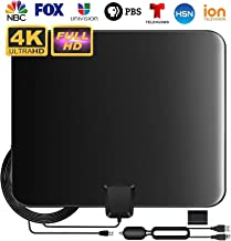 $24 » Updated 2020 Best TV Antenna for Digital TV Indoor, HD TV Antenna Support 4K 1080P with Adjustable Amplifier Signal Booster, 90-140 Miles Range Digital Antenna for HDTV Freeview Life Local Channels