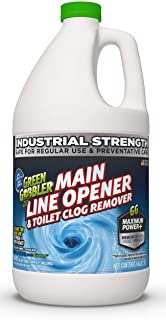 Green Gobbler Ultimate Main Drain Opener + Drain Cleaner + Hair Clog Remover – 64..