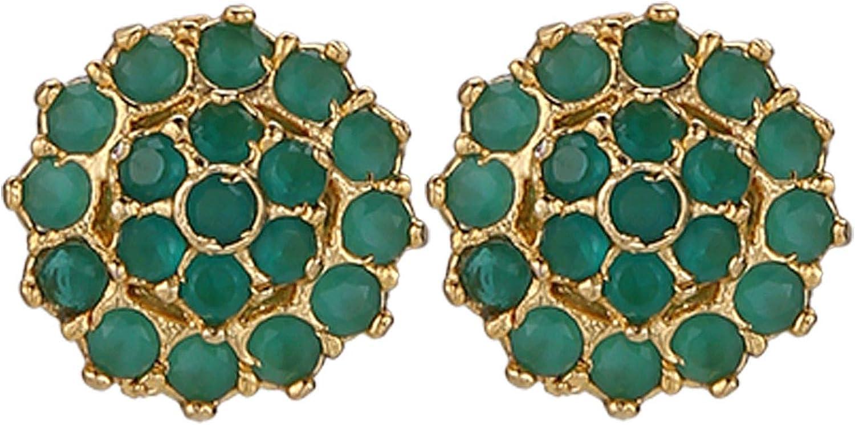 Efulgenz Gold Tone Hypoallergenic Cubic Zirconia Round Stud Earrings Pierced Jewelry for Women Girls Brides Bridesmaid