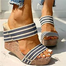 WECDS Sandales Pantoufles pour Femmes Loisirs Et Confort Pas De Pieds Obstrués Pieds Résistants l'abrasion Et Non Pincants...