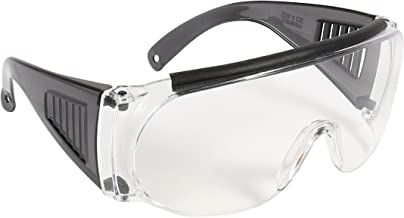 Allen Company Shooting & Safety Fit Over Glasses for Use with Prescription Eyeglasses, Clear Lenses, Wrap Around Frame, AN...