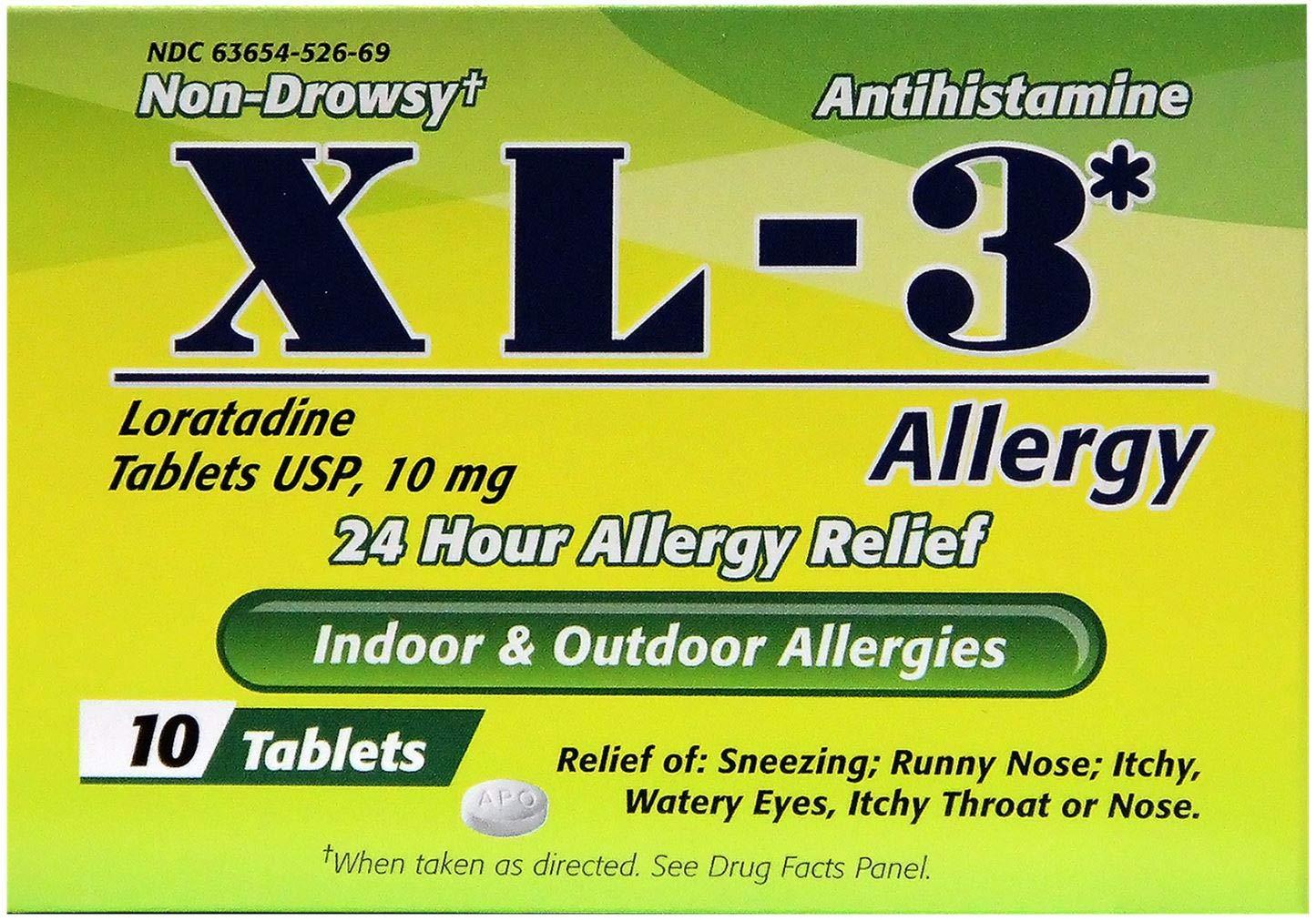 XL-3 Allergy Medicine 24 Hour Super sale Relief Allergies discount Seasonal from