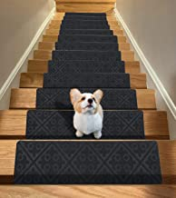 "15-Pack 8""x 30"" Non Slip Carpet Stair Treads Stair Runners Dark Grey, Safety Slip Resistant Rug Mats for Kids, Elders, and..."