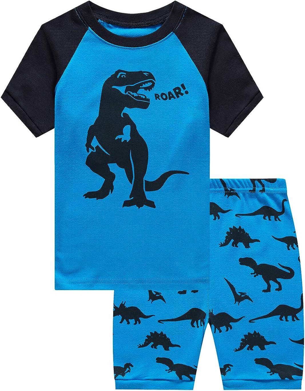 Family Feeling Boys Summer Pajamas Sets Short 100% Cotton Pjs